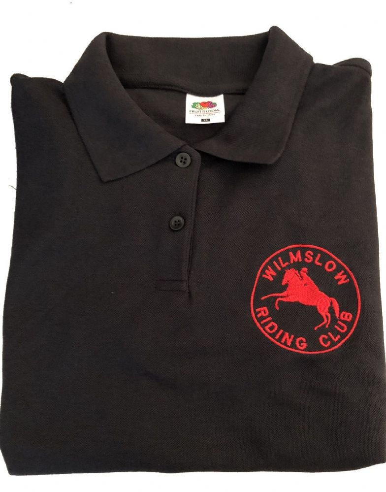Ladies Fit Wilmslow RC Polo Shirt -Black